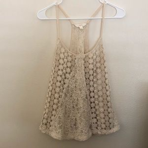 Crochet cream tank top